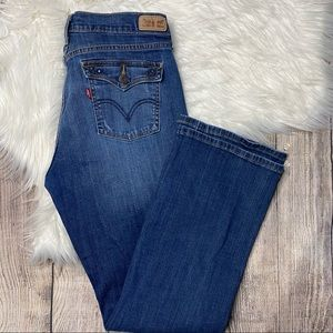 Levi 515 Bootcut Medium Wash Jeans 31